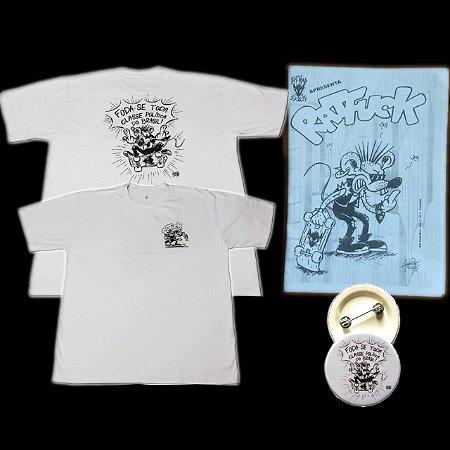 "Kit Rat Fuck ""Foda-se toda a classe política do Brasil"" Camiseta + Bottom + Fanzine"