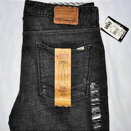 Calça Jeans Importada VANS V76 Skinny Original Escura