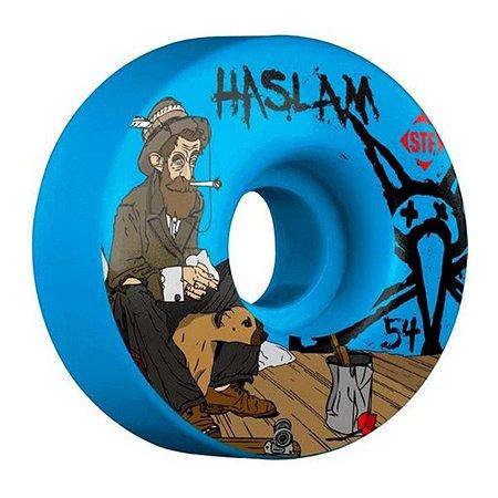 Rodas de Skate Bones STF Haslam Bohemian 54mm Azul