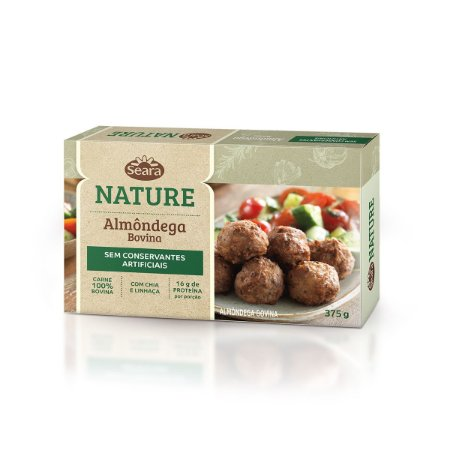 ALMONDEGA BOVINA NATURE SEARA 375G