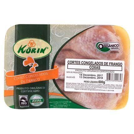 COXA DE FRANGO KORIN SEM PELE CONGELADA 600G