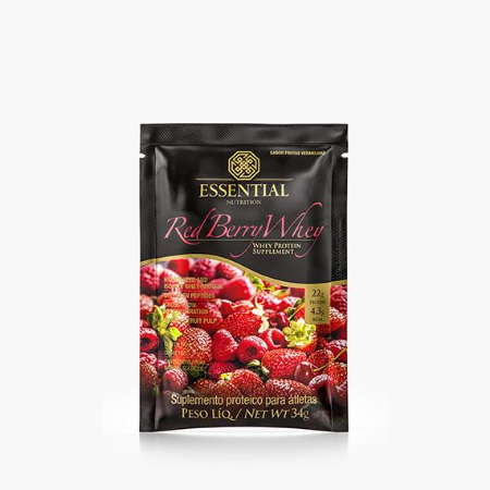 RED BERRY ESSENTIAL NUTR WHEY FRUTAS VERMELHAS 34G