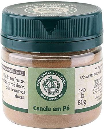 CANELA EM PO COMPANHIA DAS ERVAS 80G