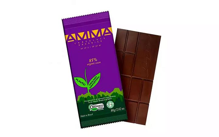TABLETE AMMA CHOCOLATE ORGANICO 85% CACAU