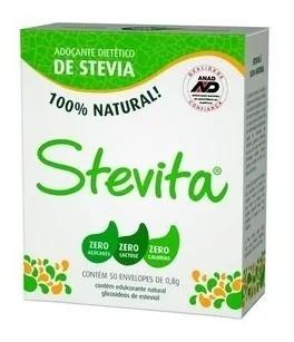 PURO CRISTAL DE STEVIA STEVITA 50 SACHES 70MG