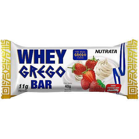WHEY GREGO MORANGO COM CHANTILLY NUTRATA 30G