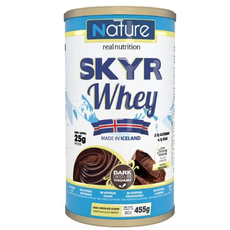 SKYR NATURE WHEY DARK CHOCOLATE 455G