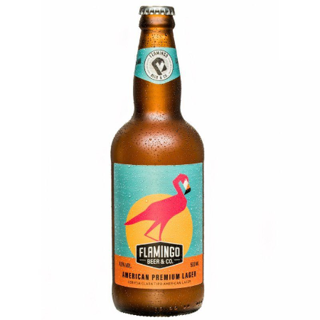 AMERICAN PREMIUM FLAMINGO BEER LAGER 600ML