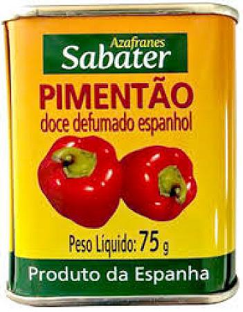 PIMENTAO SABATER DOCE DEFUMADO ESPANHOL 75G
