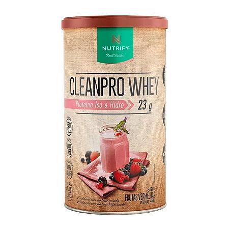 CLEANPRO WHEY FRUTAS VERME NUTRIFY 450G