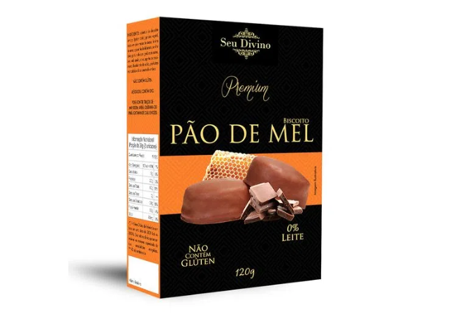 BISCOITO PAO DE MEL SEM LACTOSE SEU DIVINO 120G