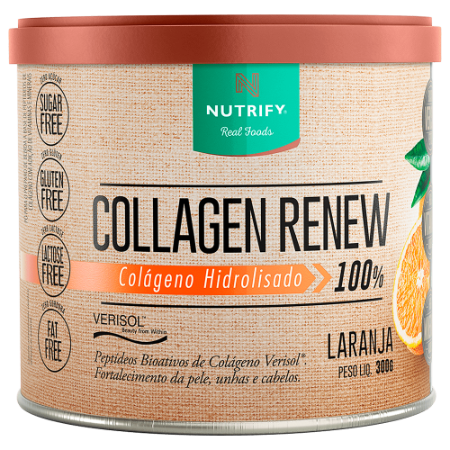 COLLAGEN RENEW NUTRIFY FOODS LARANJA 300G