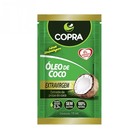 OLEO DE COCO SACHE COPRA EXTRAVIRGEM ORG 15ML