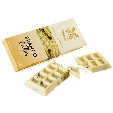 Caixa de barra branco com cookies - 45G