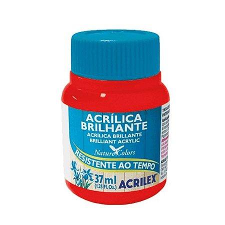Tinta Acrílica Brilhante Acrilex 37ml - Vermelho Fogo 507