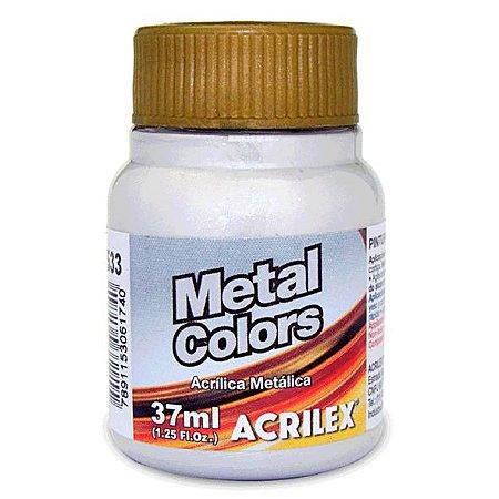 Tinta Acrílica Metálica Acrilex 37ml - Prata 533