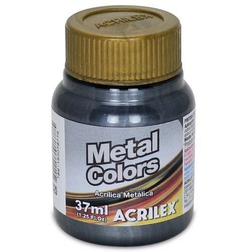 Tinta Acrílica Metálica Acrilex 37ml - Preto 520