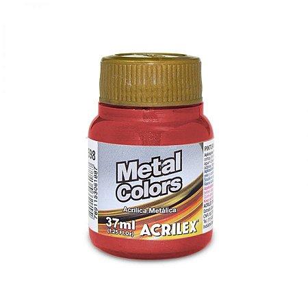 Tinta Acrílica Metálica Acrilex 37ml - Vermelho 555