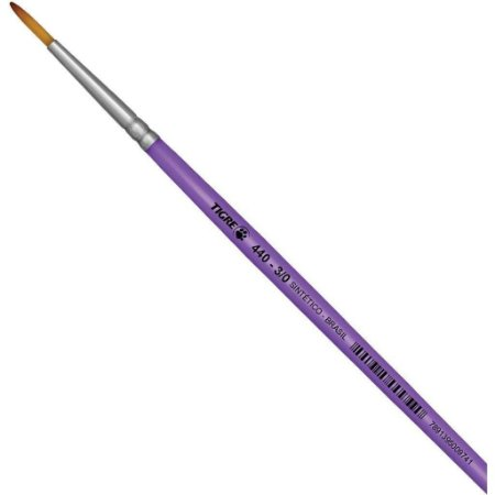 Pincel Redondo Liner Longo Sintético 440-3-0 TIGRE