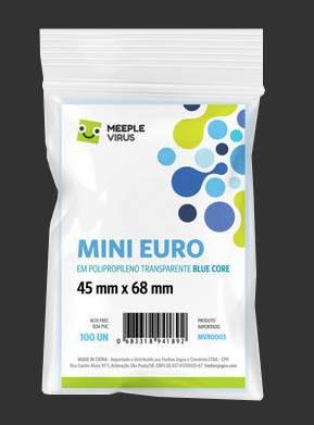 SLEEVE MINI EURO (45 X 68) BLUE CORE