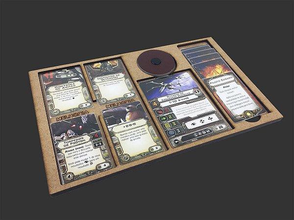 Dashboard para X-Wing (4 espaços para melhorias)