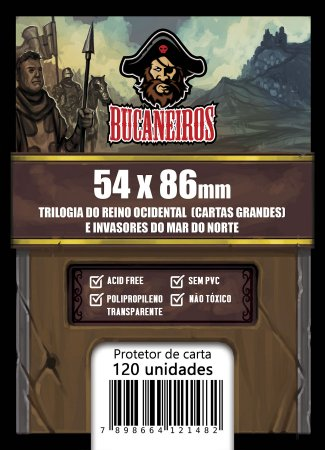 Sleeves Customizados Invasores do Mar do Norte (54x86)