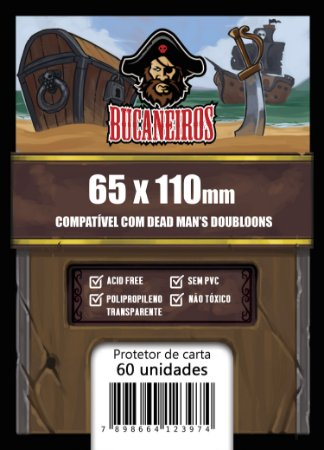 Sleeve Customizado - Dead Man's Doubloons 65x110