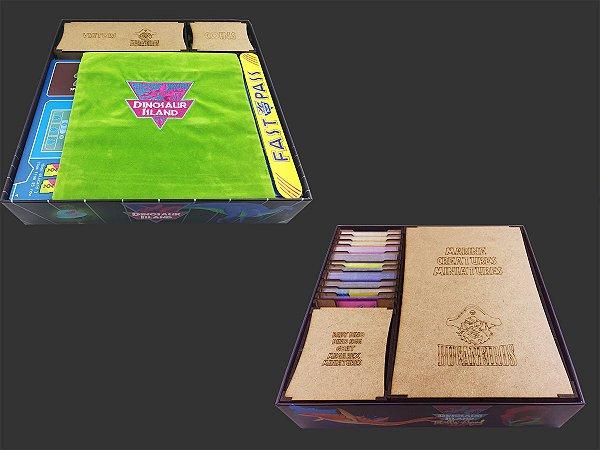 Organizador (Insert) para Dinosaur Island - versão Kickstarter