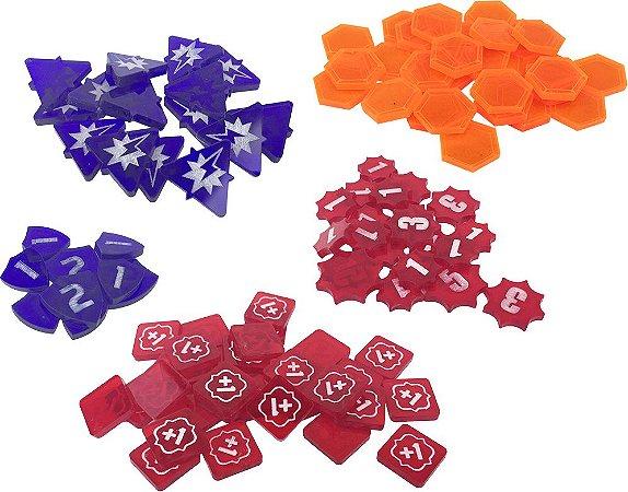 Kit de marcadores customizados para Keyforge (108 marcadores)