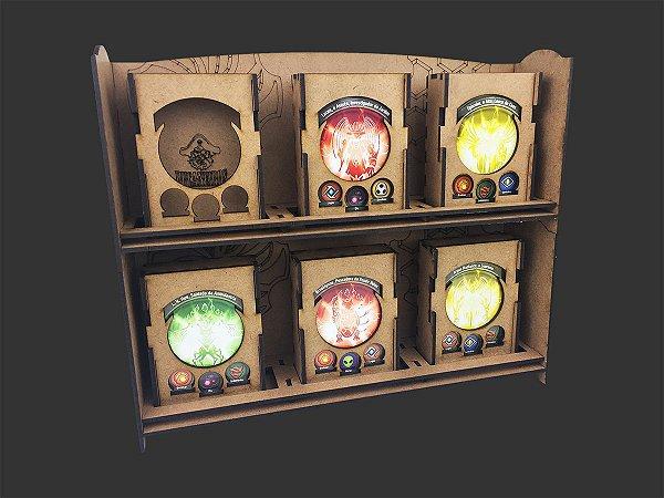 Display (Mostruário) modular de deck boxes para Keyforge (unitário)
