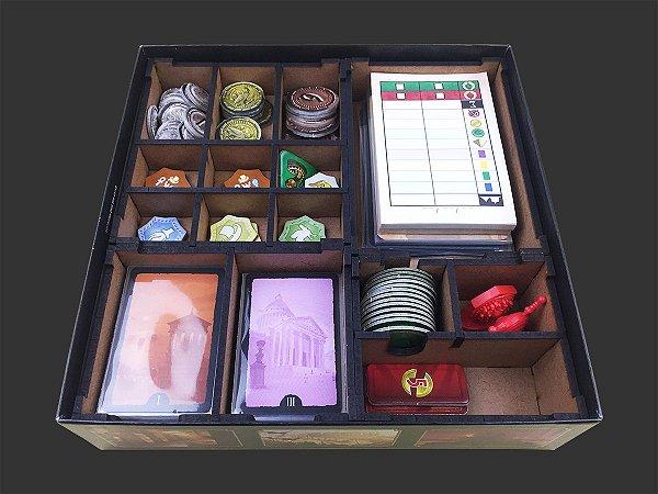 Organizador (insert) para 7 Wonders Duel - Modelo 1