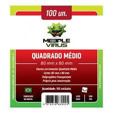 SLEEVES QUADRADO MÉDIO Meeple Vírus (80X80)