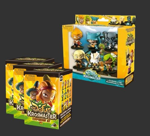 COMBO Confraria do Tofu + 3 Miniatura Surpresa 2º Temp. - Expansão Krosmaster Arena