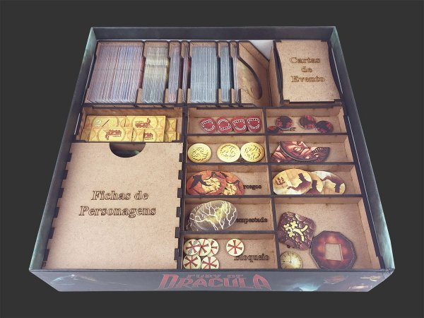 Organizador (Insert) para Fury of Dracula com Dashboards