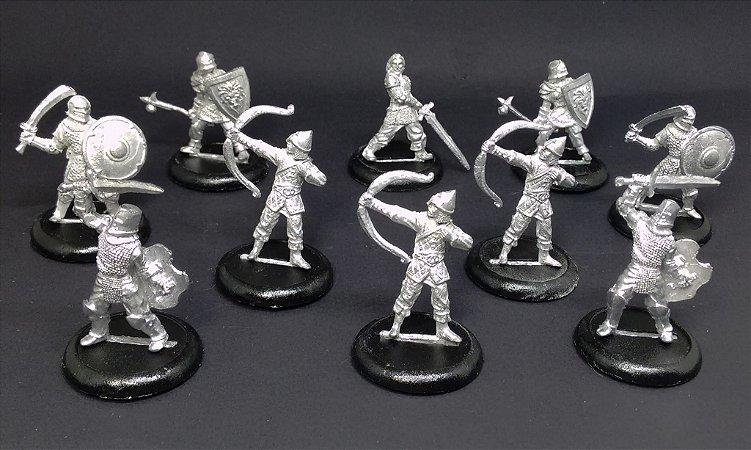 Miniaturas para RPG - Tropa dos Humanos (Kit com 10 miniaturas)