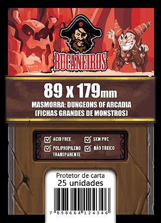 Sleeve Customizado Fichas Grandes de Monstros - Masmorra: Dungeons of Arcadia (89 x 179)