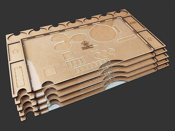 Kit Dashboards para Terra Mystica (5 unidades) Modelo 2 - SEM CASE