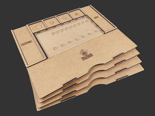 Kit Dashboard para Viscondes do Reino Ocidental (4 unidades) - SEM CASE