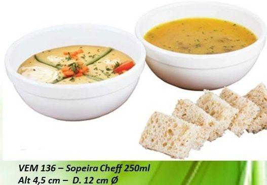 Sopeira Cheff P 250ml - VEMPLAST