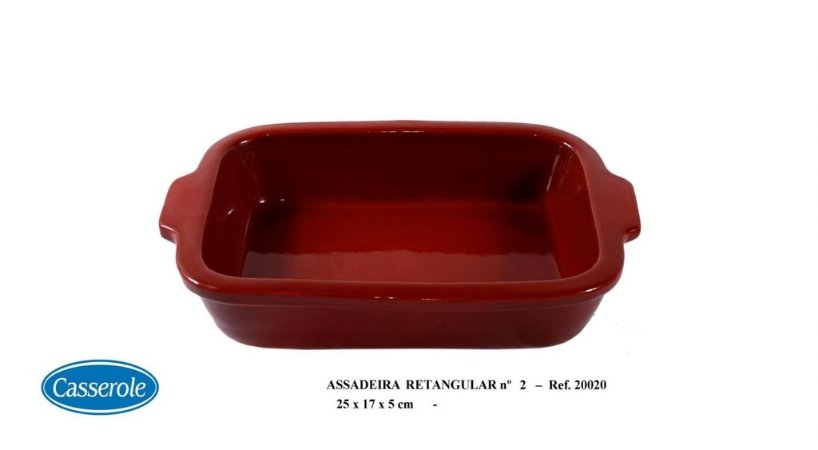 ASSADEIRA RETANGULAR MARROM N.2 REF 20020 - CASSEROLE