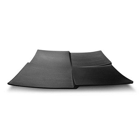 PRATO QUADRADO BLACK 23cm - MARCAMIX