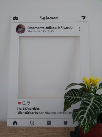 Placa Divertida Instagram