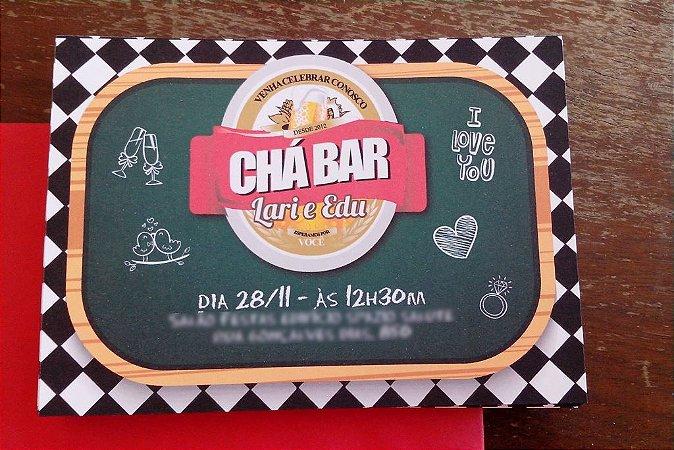 Convite Chá Bar - Boteco