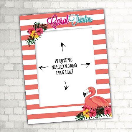 Placa Moldura Flamingo