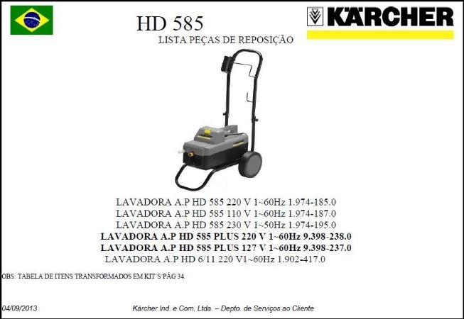 Vista explodida HD 585