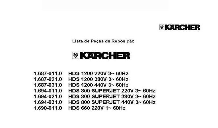 Vista explodida HDS 800/1200/660