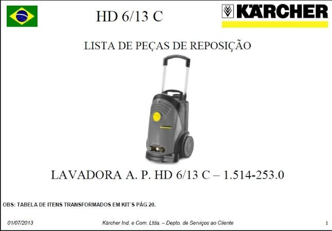 Vista explodida HD 6/13 C