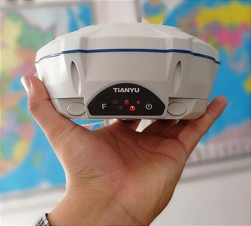 Par de Receptores GNSS RTK Tianyu Modelo C1 Com Rádio Externo