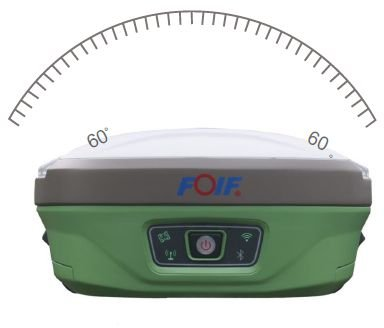 Par de receptores GNSS RTK Foif modelo A90 com rádio externo