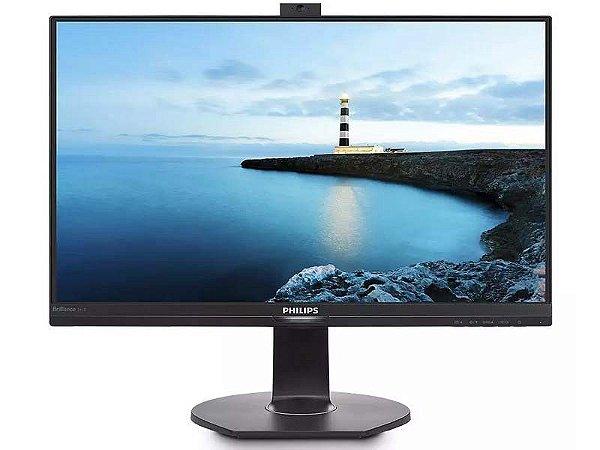 "Monitor Led 23,8"" Ful Hd Com Webcam e Microfone Saida Vga Hdmi Dp"